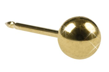 Inverness Ball 4mm gullbelagt, par